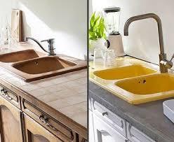 repeindre un plan de travail cuisine peinture sur plan travail cuisine en carrelage photo avant après