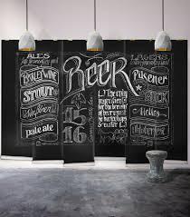 black chalkboard beer themed wall decor milton king chalkboard beer wall mural wallpaper republic