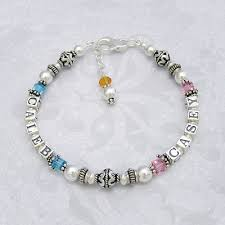 mothers bracelet as personalized bracelets with two or three names and