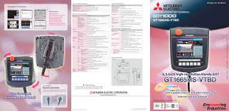 mitsubishi electric ac remote gt16 handy brochure mitsubishi electric automation pdf