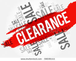clearance sale words cloud business concept stock illustration