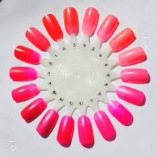 coral nail polish neon pink bright light red orange designs