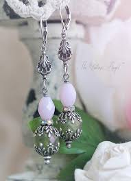 shabby chic earrings from the vintage angel