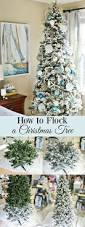 how to flock a christmas tree and greenery flocked christmas