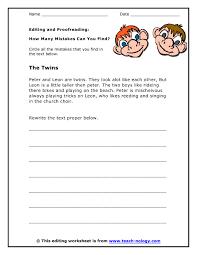 editing paragraphs worksheets worksheets