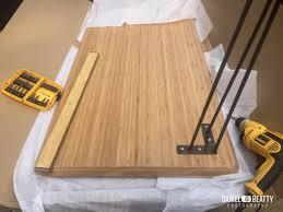 bureau en bambou bureau en bambou et métal bidouilles ikea