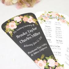 paper fan wedding programs planning a summer wedding inn 2 weddings