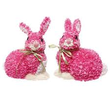 raz easter decorations raz hydrangea bunny easter decoration set of 2 2 assorted styles