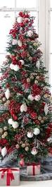 balsam hill u0027s red white and sparkle glitter ribbon tree