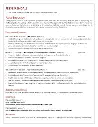 Professional Model Resume Crafty Paraprofessional Cover Letter 1 Professional Sample Writing