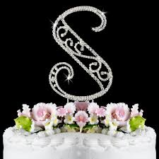 s cake topper s wf monogram wedding cake toppers