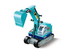 kids ride on manual excavator construction vehicle blue glopo inc