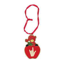 maxiaids apple i you sign language ornament