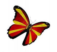 Macedonian Flag Macedonian Flag Butterfly Desktop Background