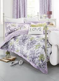buy mauve watercolour floral cotton sateen bed set from the next