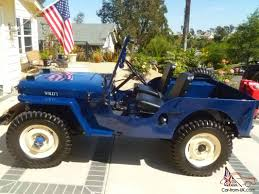 blue jeep willys jeep blue cj2a