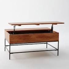 Lift Coffee Tables Sale - industrial storage coffee table west elm