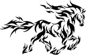 tribal flamed horse tattoo design tattoos book 65 000 tattoos