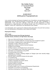Dental Receptionist Resume Examples by Debbie Parker Cv 15 01 01