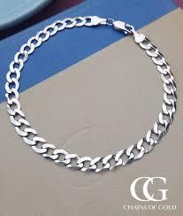 white gold ladies bracelet images Men 39 s ladies 39 9ct white gold diamond cut curb bracelet 8 5 quot jpg