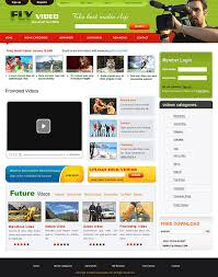 templates for video website css newsletter templates for video sharing sites
