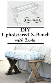 Bench Bedroom Benches Furniture Benches Bedroom Upholstered X Bench Using 2 4