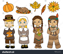 thanksgiving characters icons stock vector 222699859