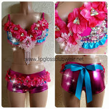 enchanting pink flower rave rave wear theme wear