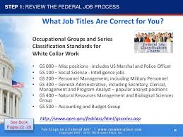 Resume For Federal Jobs by 10 Steps To Federal Job