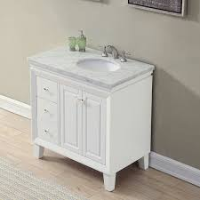 bathroom sink cabinets with marble top silkroad exclusive 36 transitional bathroom vanity carrara marble