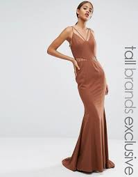 jarlo tall jarlo tall strappy maxi dress with waist cutout detail
