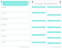 Bakery Price List Template Craft Sew Create Free Printable Menu Plan Shopping List