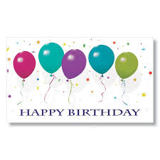 birthday cards for employees with balloons and confetti