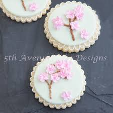 graduation cookies piped cherry blossom tree cookies bobbies baking