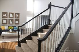how to make a banister for stairs how to stain paint an oak banister the shortcut method no