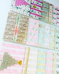 washi tape christmas cards organized life design