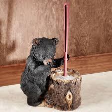 stinkin bear toilet brush holder