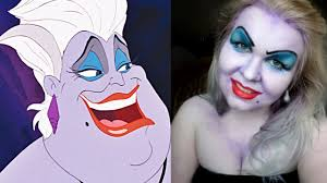ursula makeup transformation easy costume makeup youtube