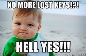 Hell Yes Meme - no more lost keys hell yes fist pump baby meme generator