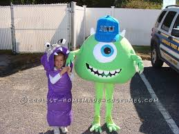 Mike Halloween Costume Homemade Mike Wazowski Costume Sister Boo