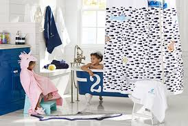 Pottery Barn Kids Shower Curtains Under The Sea Bathroom Pottery Barn Kids