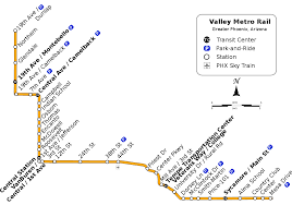 Link Light Rail Map List Of Valley Metro Rail Stations Wikipedia