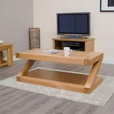 z shape solid oak large coffee table oak furniture uk