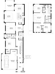 narrow house plans with garage narrow lot house plans detached garage home act