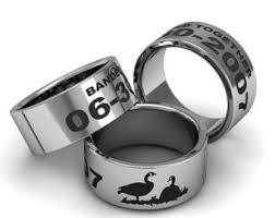 Duck Band Wedding Rings by Personalized Sterling Silver Goose Duck Band Ring Custom