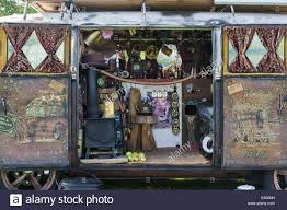 volkswagen camper inside interior of a rusty vw rat split screen volkswagen camper van at a