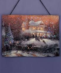 thomas kinkade lighted pictures thomas kinkade lighted wall hanging christmas 3 pinterest