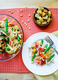 green beans salad with apples and orange dressing recipe