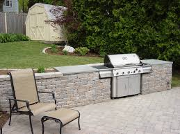 Outdoor Kitchen Ideas On A Budget Outdoor Kitchen Built In Free Standing Grill Clarkelandscapes Com