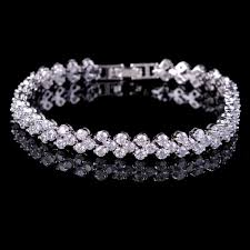 white gold jewelry bracelet images Roman jewellery bracelet white sapphire lady 39 s white gold plated jpg